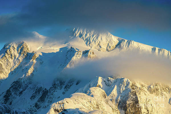 Table Mountain Wall Art - Photograph - Mount Shuksan Dusk Details by Mike Reid
