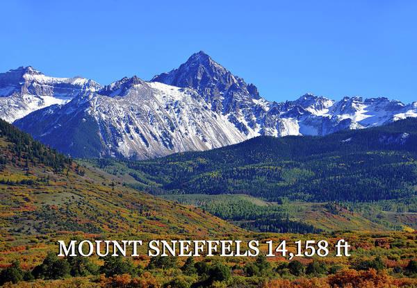 Fourteener Photograph - Mount Sneffels Landscape by David Lee Thompson