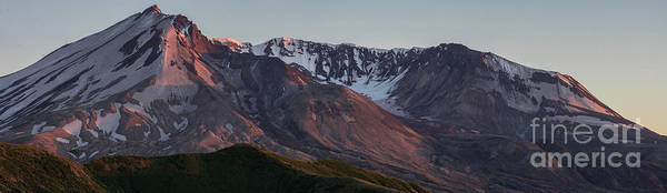 Crater Lake Photograph - Mount St Helens Crater Alpenglow by Mike Reid
