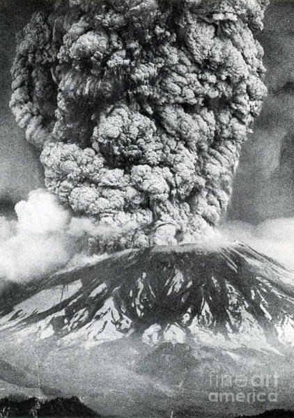 Wall Art - Photograph - Mount St. Helens Eruption, 1980 by Science Source