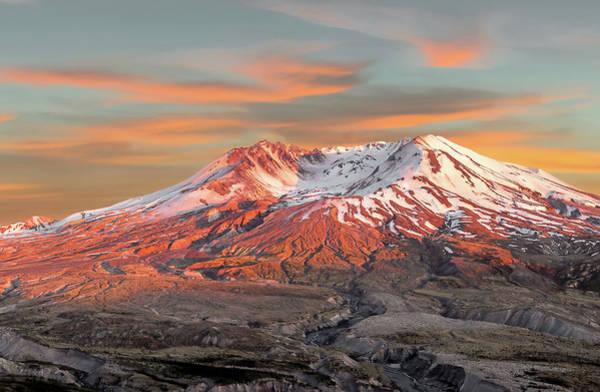 Photograph - Mount St Helens Sunset Washington State by Robert Bellomy