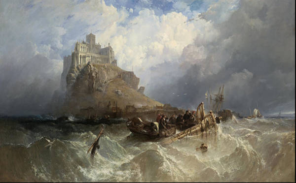 Tsunami Painting - Mount St Michael, Cornwall 1830 by Clarkson Frederick Stanfield
