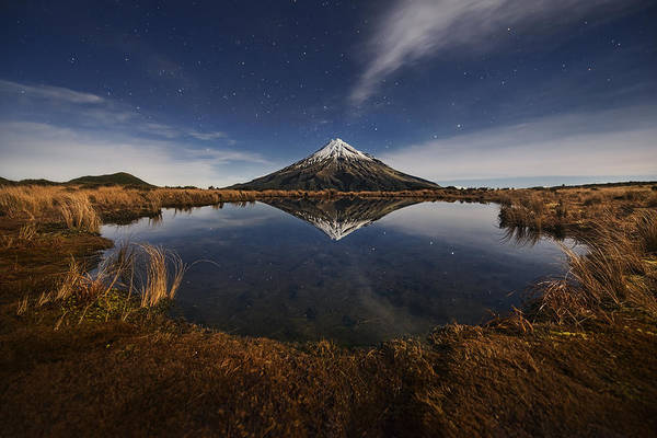 Mounted Photograph - Mount Taranaki by Yan Zhang