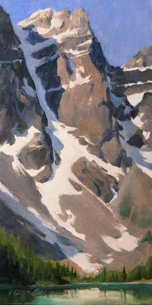 Air Canada Wall Art - Painting - Mount Tonsa, Moraine Lake by Anna Rose Bain