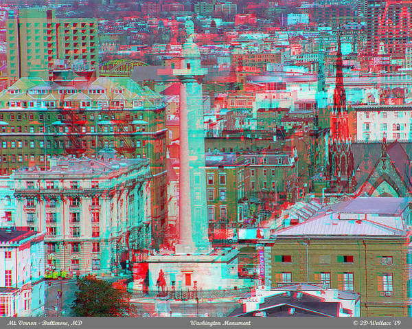 Anaglyph Photograph - Mount Vernon - Use Red-cyan 3d Glasses by Brian Wallace