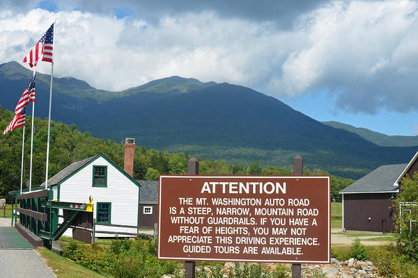 Photograph - Mount Washington Nh Warning Sign by Toby McGuire