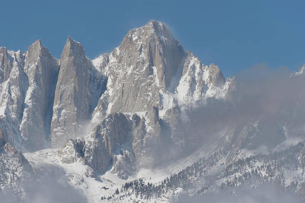 Photograph - Mount Whitney In March by John Hight