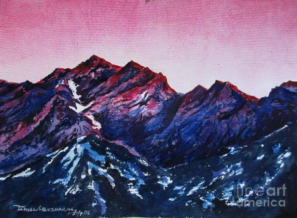 Painting - Mountain-1 by Tamal Sen Sharma