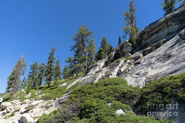 Photograph - Mountain Along Tioga Pass Yosemite California Dsc04218 by Wingsdomain Art and Photography
