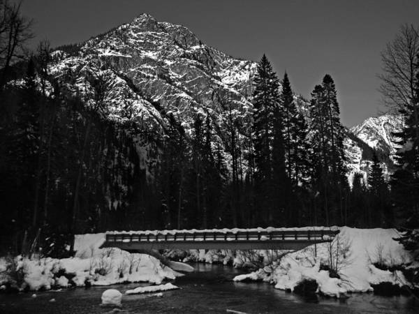 Dust Photograph - Mountain And Bridge Black And White by Pelo Blanco Photo