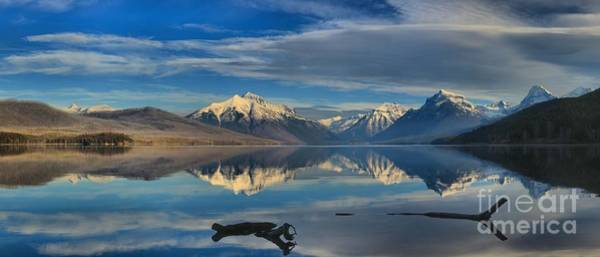 Photograph - Mountain And Driftwood Reflections by Adam Jewell