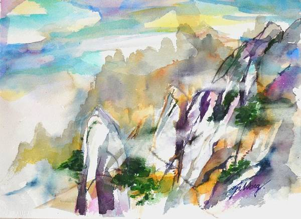 Painting - Mountain Awe #2 by Betty M M Wong