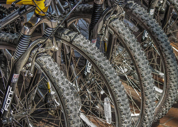 Photograph - Mountain Bicycles And Tires by Randall Nyhof