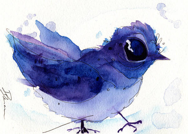 Painting - Little Mountain Bluebird by Dawn Derman