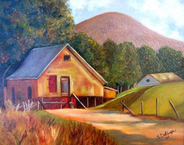 Painting - Mountain Cabin Hideaway by Susan Dehlinger