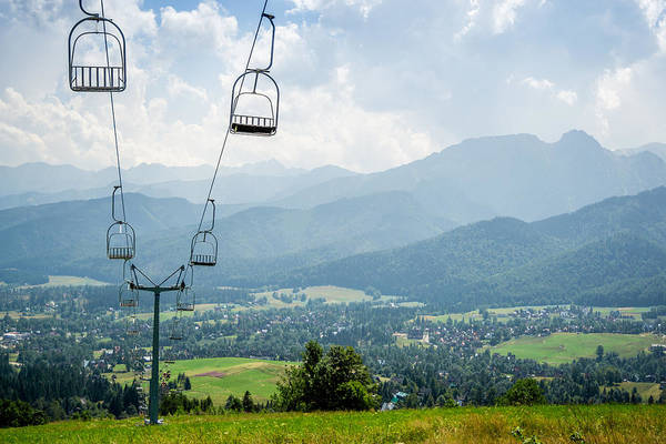 High Tatras Wall Art - Photograph - Mountain Cableway by Pati Photography