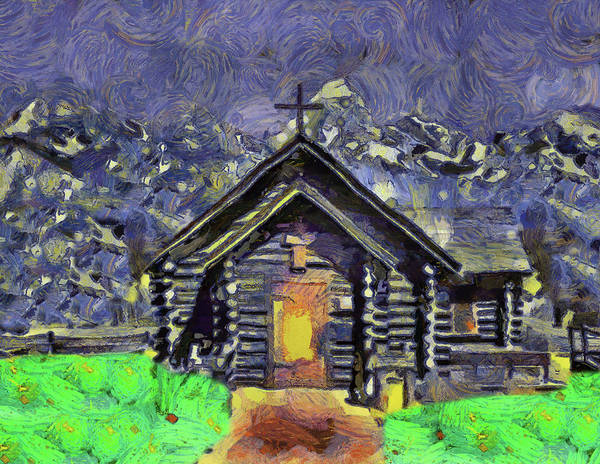 Painting - Mountain Chapel by Dan Sproul