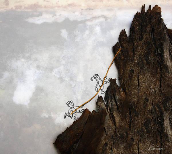 Mixed Media - Mountain Climbers by Diana Haronis