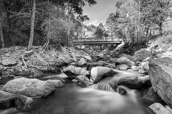 Photograph - Mountain Creek Bridge In Black And White  by James BO Insogna