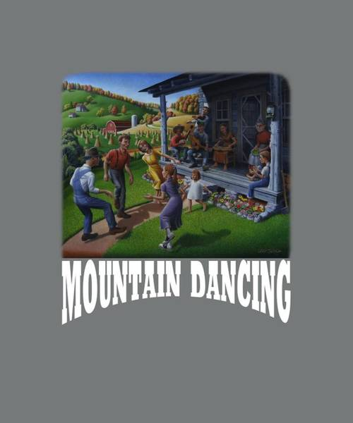 Porch Painting - Mountain Dancing T Shirt 2 by Walt Curlee