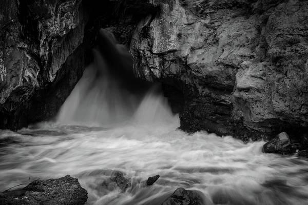 Blanco Y Negro Wall Art - Photograph - Mountain Falls by Michael Osborne