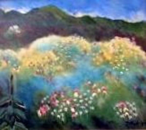 Painting - Mountain Flowers by Marilyn Rodriguez