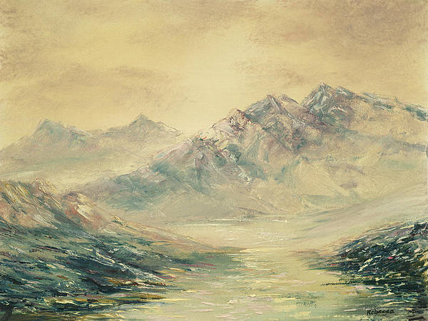 Painting - Mountain High by Rebecca Kimbel