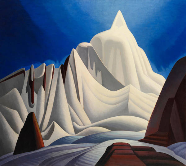 Wall Art - Painting - Mountain In Snow by Lawren Harris