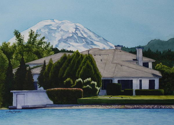 Mount Rainier Painting - Mountain Is Out by Tina Sander