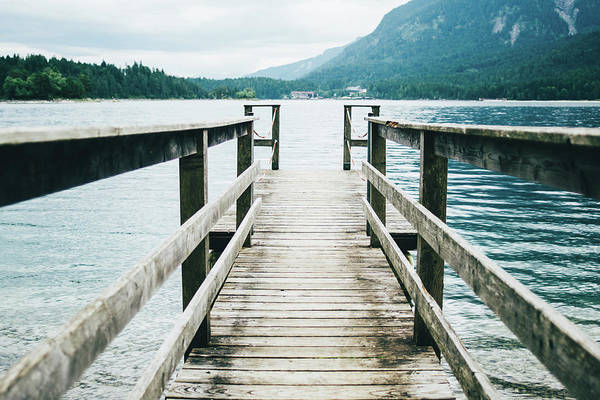 Wall Art - Photograph - Mountain Lake Jetty by Pati Photography