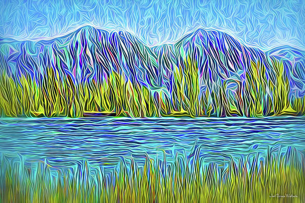 Digital Art - Mountain Lake Spirit by Joel Bruce Wallach