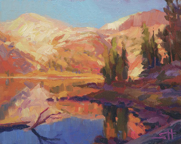 Wall Art - Painting - Mountain Lake by Steve Henderson