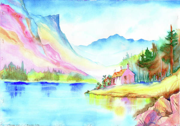 Painting - Mountain Lake by Xavier Francois