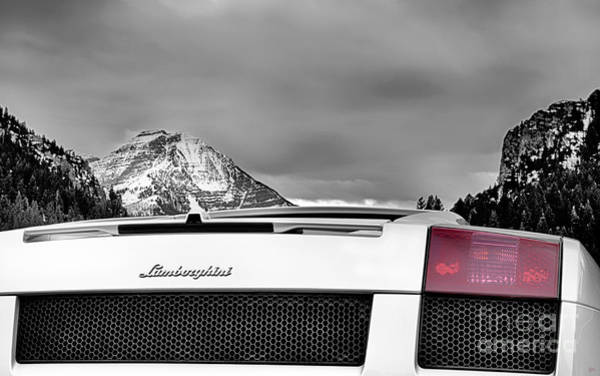 Photograph - Mountain Lamborghini Canvas Print,photographic Print,art Print,framed Print,iphone Case, by David Millenheft