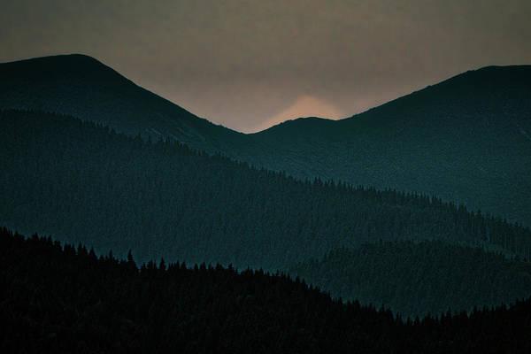 Photograph - Mountain Layers At Dawn - Romania by Stuart Litoff