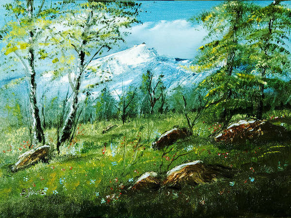 Painting - Mountain Meadow by Barry Jones