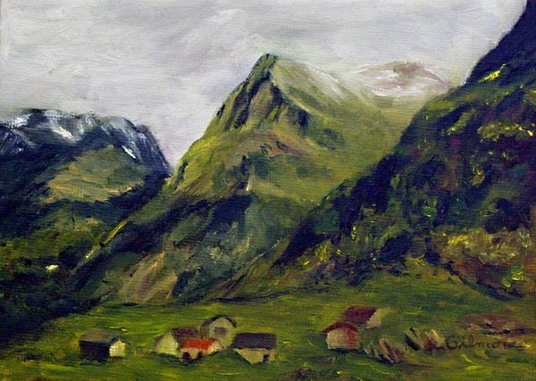 Alpine Meadow Painting - Mountain Meadow by Roseann Gilmore