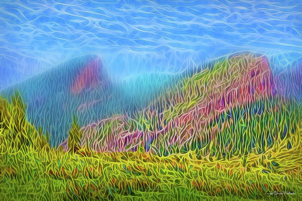 Digital Art - Mountain Meadow Spirit by Joel Bruce Wallach