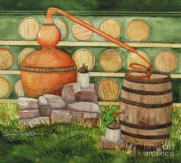 County Fair Painting - Mountain Moonshine Still by Donlyn Arbuthnot