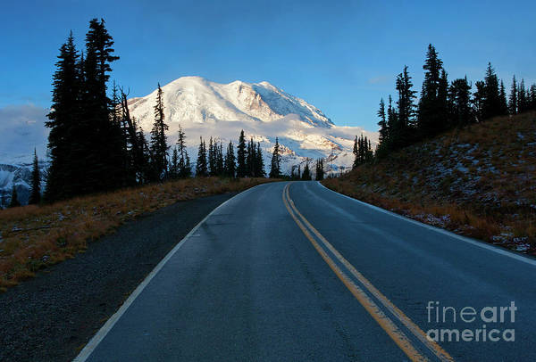 Wall Art - Photograph - Mountain Morning Highway by Mike Dawson