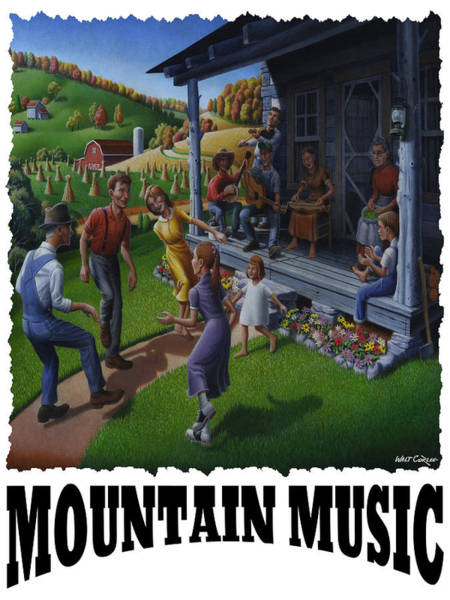 Porch Painting - Mountain Music - Porch Music by Walt Curlee