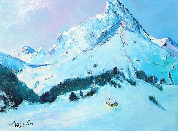 Scriptural Painting - Mountain Peace by Marie Clark