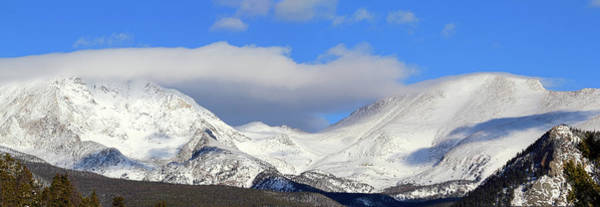 Photograph - Mountain Peaks - Panorama by Shane Bechler