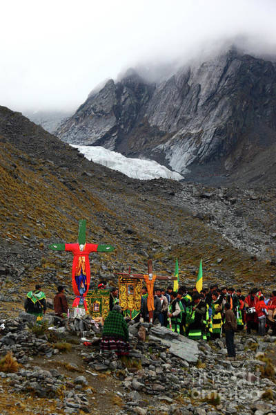 Photograph - Mountain Pilgrimage During The Qoyllur Riti Festival Peru by James Brunker
