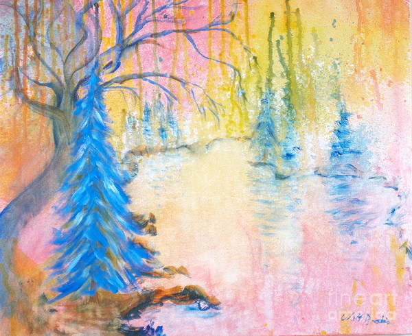 Painting - Mountain Pond by Walt Brodis