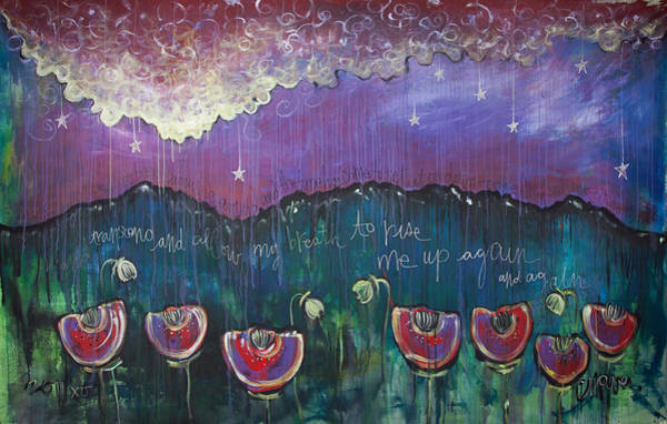 Painting - Mountain Poppies by Laurie Maves ART