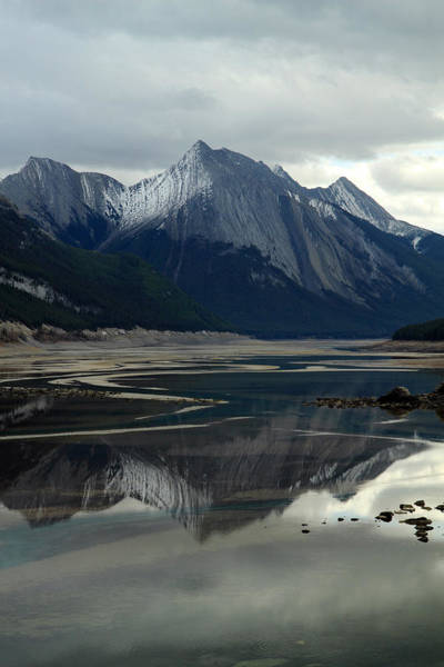 Photograph - Mountain Reflection At Medecine Lake by Pierre Leclerc Photography