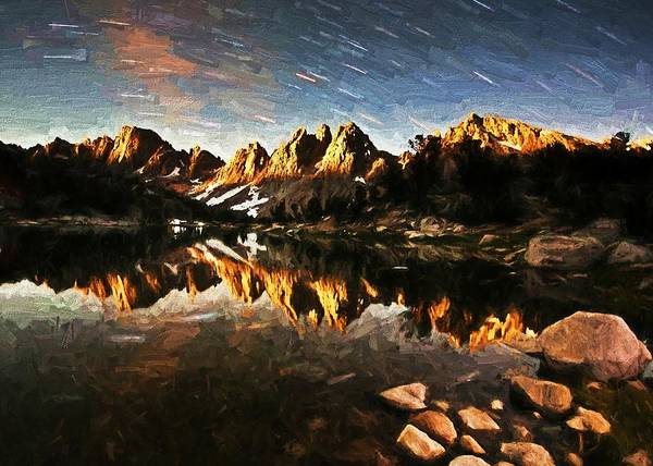 Digital Art - Mountain Reflections by Charmaine Zoe