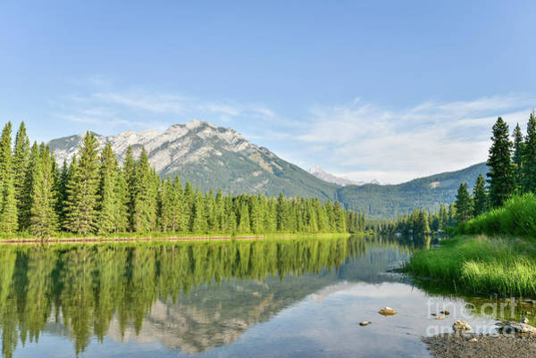 Canadian Rocky Mountains Photograph - Mountain Reflections by Paul Quinn