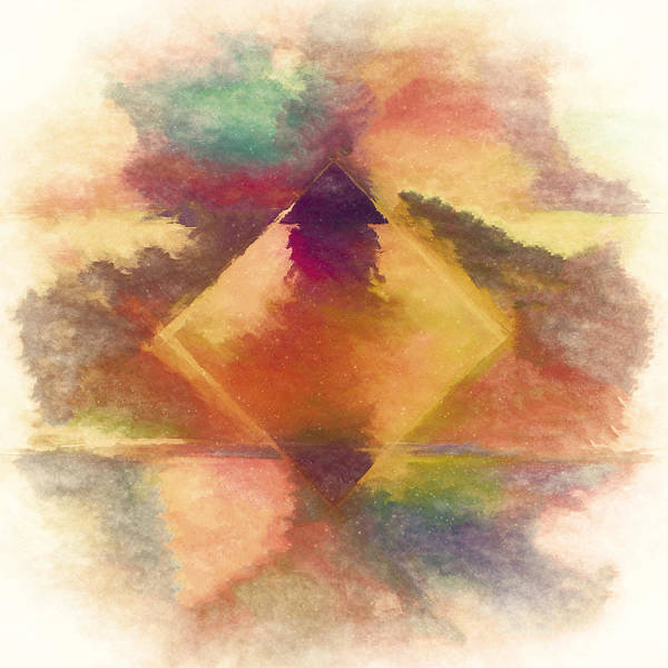 Warm Digital Art - Mountain Reverie by Jon Woodhams